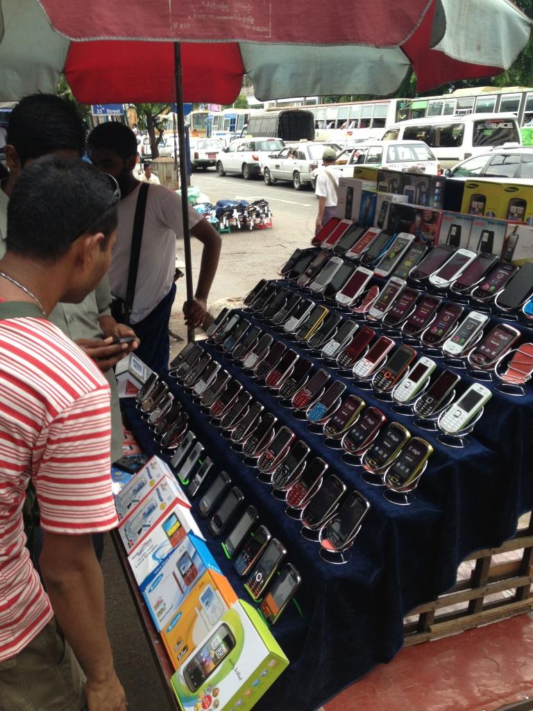 ミャンマーの携帯電話