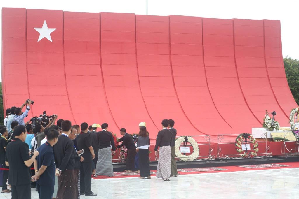 アウンサン将軍と官僚たちのお墓(Photo by Irrawaddy News)