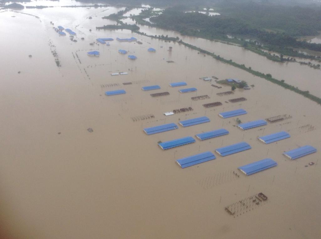 まだまだ水が下がらないミャンマー西部