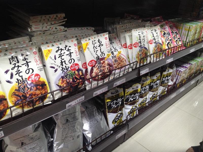 日本食材が数たくさん