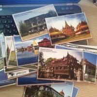 ミャンマーで一般的に売られているポストカード